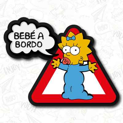 bebe a bordo maggie pegatina vinyl sticker decal aufkleber coche the simpsons	personalizado
